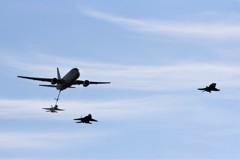 2018 岐阜基地航空祭 KC-767 空中給油模擬飛行 ①