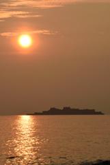 軍艦島から陽の道_