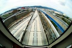 『神戸ポートライナー!』先頭車窓からの風景(1)・・・♪