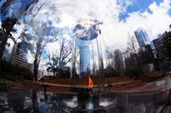 阪神淡路大震災関連のモニュメント『1.17希望の灯り』です・・・♪