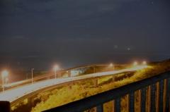 夜のミライカナイ橋