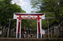 南湖神社の紙の鳥居