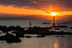裕次郎灯台 夕景