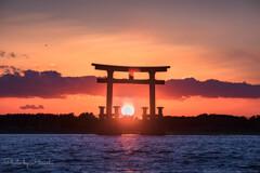 弁天島の夕陽