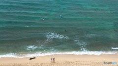 サーフィン男子とビーチギャル