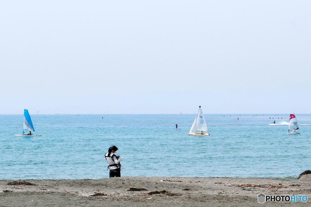 午前の逗子海岸 1