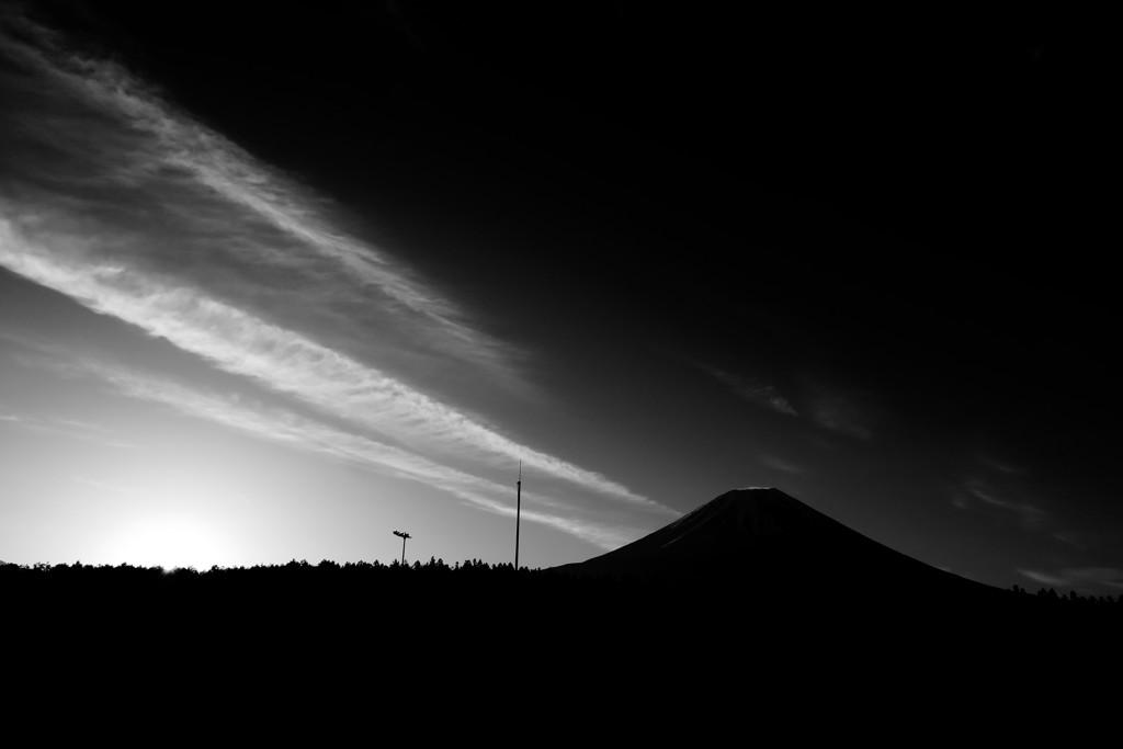 朝霧高原日の出