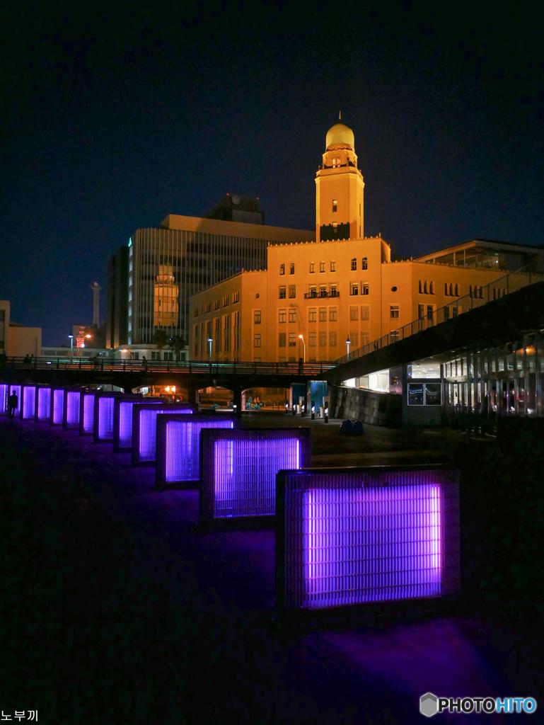 夕食後のお散歩-横浜税関