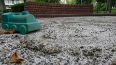 砂場のSL。