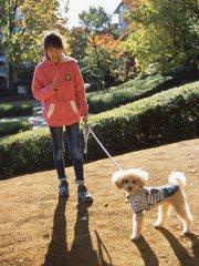 小春日和に、メロンと散歩。