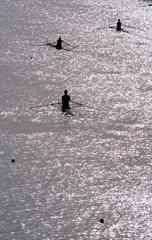 戸田漕艇場の朝。