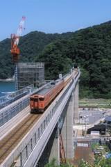 余部鉄橋と余部橋梁。