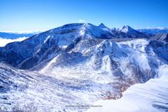 蒼天の雪景色