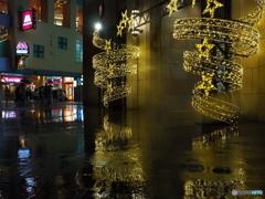 雨のユニバーサルウオーク