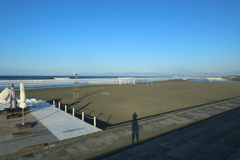 今朝の鵠沼海岸