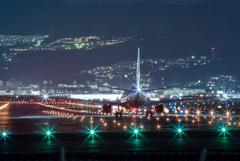 夜の輝き 「Boeing 737-800」