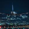 夜の到着便 「Boeing 737-500」JA306K