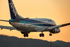 夕暮れドルフィン^^ 「Boeing 737-500.」