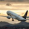 夕暮れの出発便 「Boeing 737 STAR ALLIANCE 」