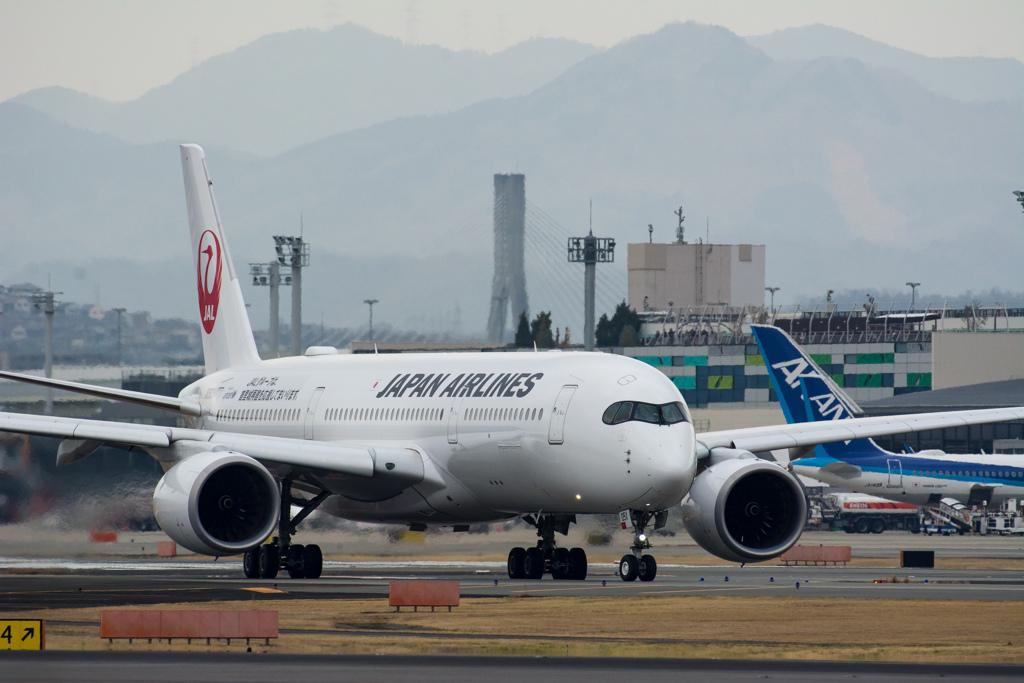 大阪空港にもA350^^