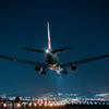 夜の到着便