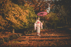 「紅葉の階段」