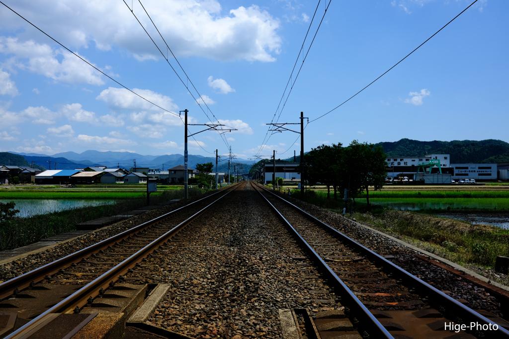 寂しい線路