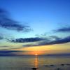GW最後の夜は、雲と夕日と海と