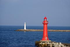 赤い灯台・白い灯台