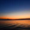 琵琶湖の朝焼け