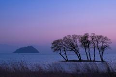 湖北の夕暮れ
