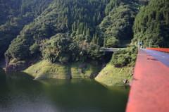 杖立温泉付近の渓谷