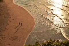 夕方の角島を散歩