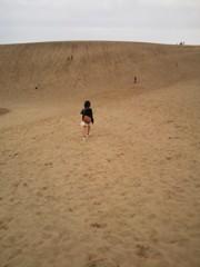 目指すは鳥取砂丘のてっぺん