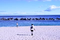 大隅半島:名もなき砂浜にて