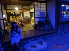 昭和の町並み 夜