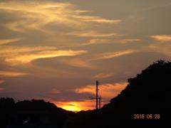 壇ノ浦PAからの夕焼け空