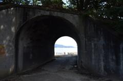 毒ガス島のトンネルから瀬戸内海へ