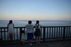 日南海岸その1 地平線を見つめて