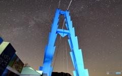 竜神大吊橋と星