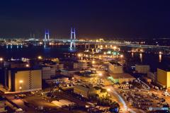 横浜ベイブリッジBlue-light up