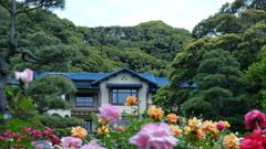 鎌倉の薔薇はお決まりの文学館