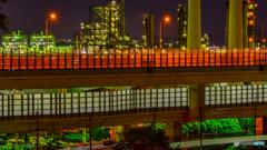 Negisi Factory night view 3