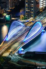 築地大橋LightI it  BLUE