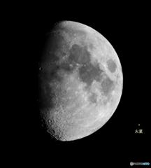 月と火星の大きさ
