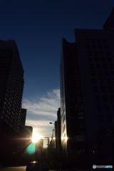 日比谷交差点の日の出