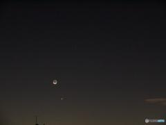 金星、火星と地球照