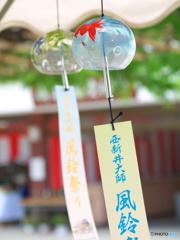 西新井大師、風鈴祭り1