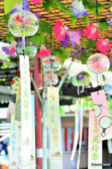 西新井大師、風鈴祭り2