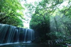 鍋ヶ滝にて